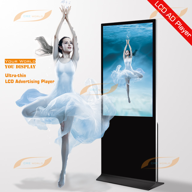 43 Inch Indoor Floor Standing LCD Advertising Display Screen