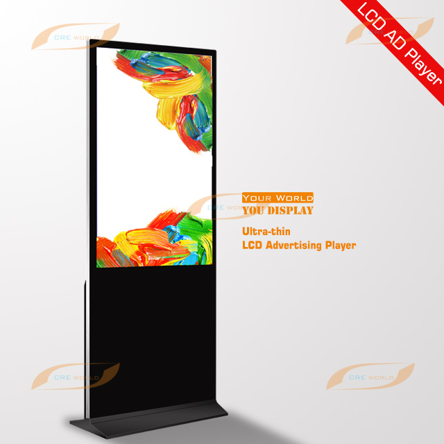 49 Inch Indoor Floor Standing LCD Advertising Display Screen