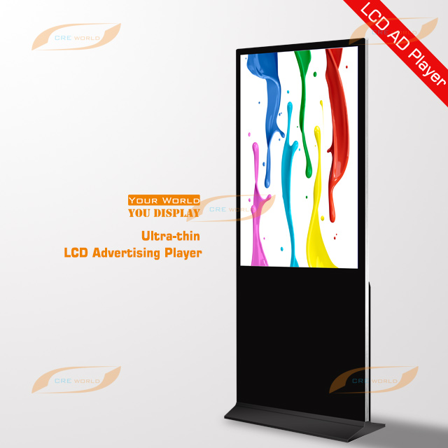 55 Inch Indoor Floor Standing LCD Advertising Display Screen