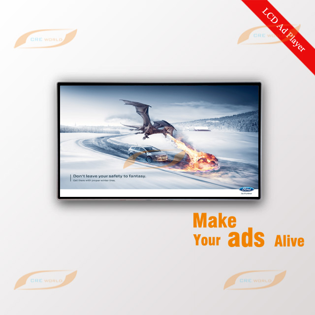 32 Inch Indoor Wall Mount LCD Advertising Display Screen