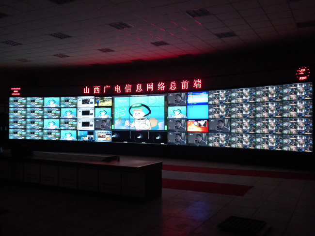 46 inch LCD video wall in Shanxi Radio & Television Information Center 02.jpg